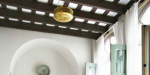 Room, Lighting, Interior design, Floor, Property, Textile, Door, Wall, Ceiling, Bed,