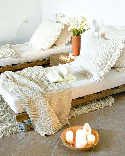 Flowerpot, White, Petal, Finger food, Cushion, Throw pillow, Linens, Cuisine, Beige, Pillow,