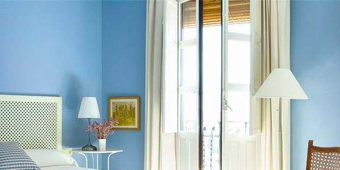 Room, Interior design, Floor, Furniture, Textile, Lamp, Linens, Wall, Bed, Flooring,