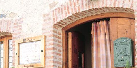 Green, Shrub, Door, Home door, Flowerpot, Evergreen, Arch, Door handle, Conifer, thuya,