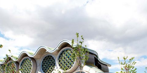 Cloud, Facade, Real estate, Shrub, Garden, Hacienda, Villa, Yard, Eco hotel, Landscaping,