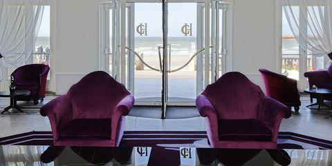 Room, Purple, Interior design, Building, Property, Architecture, Furniture, Window, Ceiling, Living room,