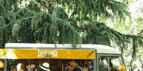 Public space, Shorts, Food truck, Bus,