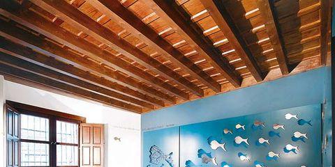 Floor, Wood, Interior design, Flooring, Room, Wall, Textile, Ceiling, Bed, Interior design,