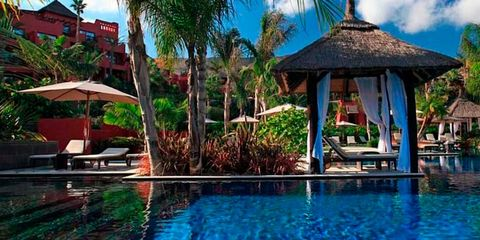 Resort, Nature, Swimming pool, Natural landscape, Tropics, Sky, Property, Vacation, Leisure, Palm tree,