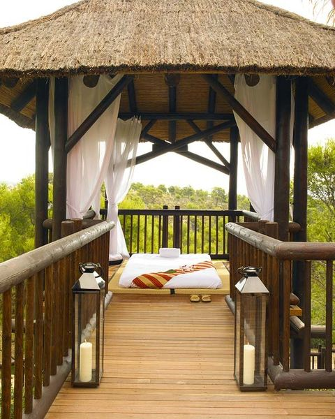 Gazebo, Pavilion, Property, Furniture, Outdoor structure, Room, Building, Resort, Canopy, Tree,