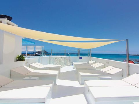 Property, Real estate, Sunlounger, Shade, Outdoor furniture, Azure, Aqua, Villa, Turquoise, Composite material,