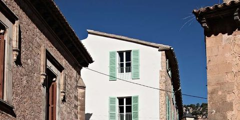 Window, Property, Neighbourhood, Wall, Stairs, Town, Residential area, House, Brick, Door,
