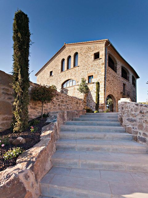 Stairs, Wall, Door, Cobblestone, Stone wall, Village, Hacienda, Brick, Walkway, Flagstone,