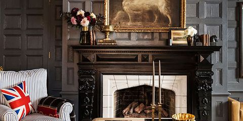 Living room, Room, Furniture, Hearth, Fireplace, Interior design, Property, Wall, Home, Table,