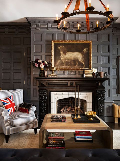 Furniture, Living room, Room, Interior design, Hearth, Fireplace, Building, Home, Table, House,
