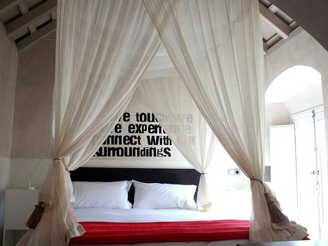 Canopy bed, Bed, Room, Curtain, Furniture, Bedroom, Mosquito net, Property, Interior design, four-poster,