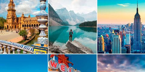 Landmark, Collage, Travel, Art, Tourism, Sky, Illustration, City, Stock photography, Architecture,