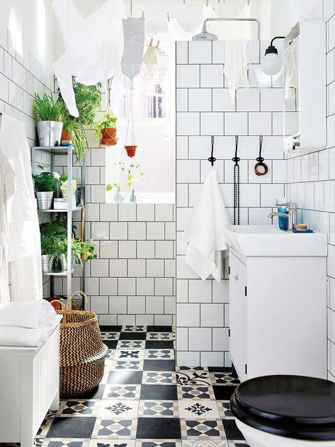 baño pequeño con ducha de obra