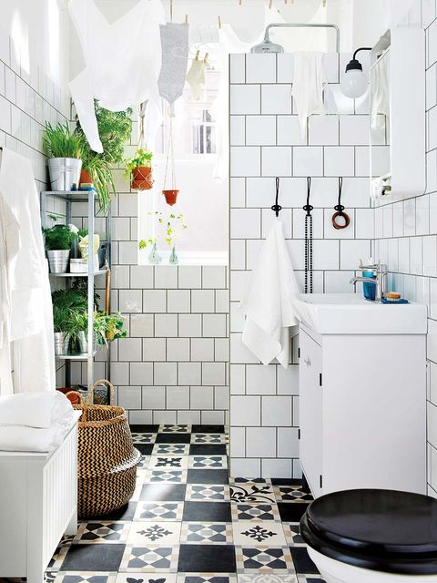White, Tile, Room, Floor, Interior design, Bathroom, Property, Wall, Flooring, Furniture,