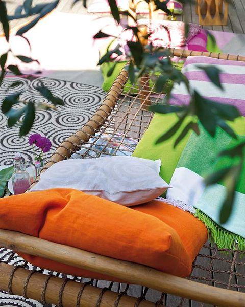 Orange, Purple, Creative arts, Craft, Thread,