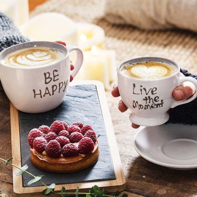 tazas de desayuno be happy