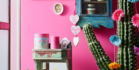 Green, Interior design, Room, Pink, Magenta, Purple, Teal, Interior design, Creative arts, Decoration,