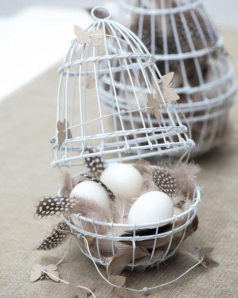 jaulas decorativas para huevos de pascua