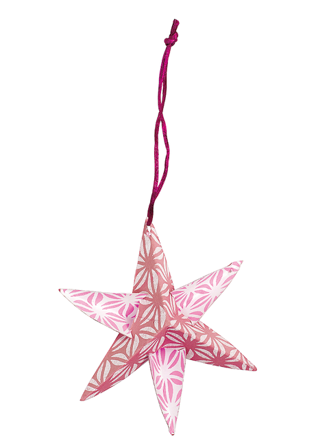 Pink, Carmine, Art, Star, Creative arts, Christmas decoration, Craft, Ornament, Cone, Pendant,