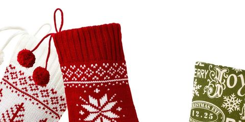 Product, Red, Pattern, Costume accessory, Carmine, Boot, Christmas stocking, Coquelicot, Home accessories, Sock,