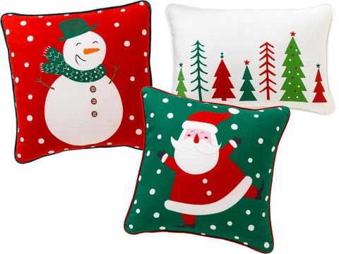 Event, Green, Red, White, Winter, Pattern, Christmas, Illustration, Fictional character, Pillow,