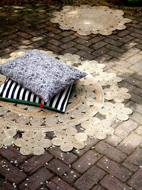 Home accessories, Cobblestone, Flagstone, Natural material, Umbrella, Frost, Rug,