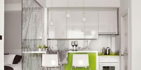 Room, Interior design, Green, Floor, Flooring, Furniture, Home, Interior design, Petal, Kitchen,