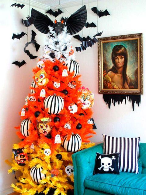 Room, Orange, Textile, Art, Graphic design, Modern art, Furniture, Illustration,