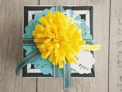 Yellow, Flower, Petal, Teal, Turquoise, Aqua, Hardwood, Rectangle, Artificial flower, Creative arts,