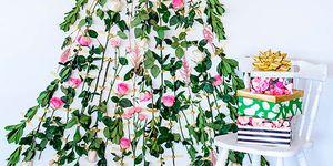 Árbol de navidad con rosas