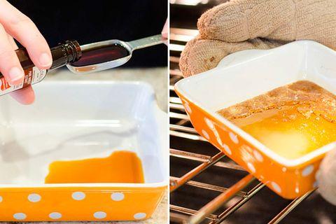 aromas para el hogar bandeja del horno con vainilla