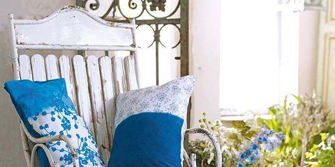 Blue, Furniture, Pillow, Throw pillow, Cushion, Teal, Aqua, Turquoise, Outdoor furniture, Electric blue,