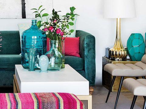 Blue, Green, Furniture, Room, Turquoise, Aqua, Table, Interior design, Pink, Teal,