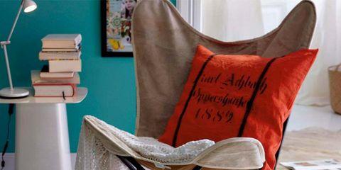 Product, Room, Textile, Linens, Interior design, Cushion, Teal, Pillow, Home accessories, Interior design,