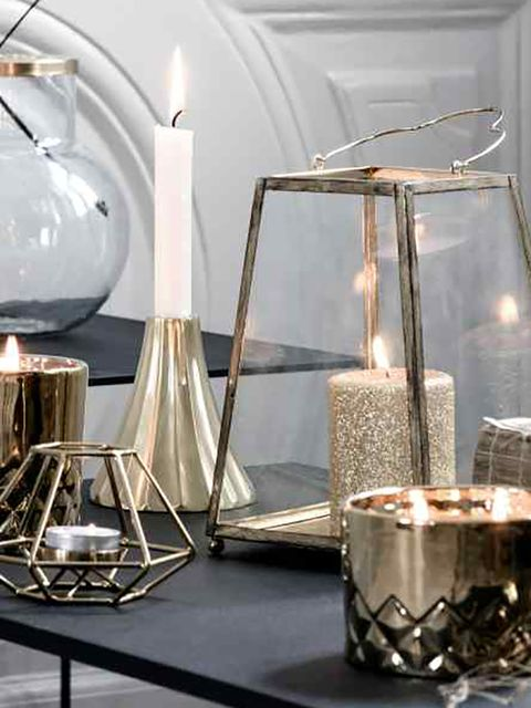 Home accessories, Still life photography, Natural material, Silver, Transparent material, Cylinder, Candle,
