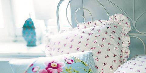 Blue, Textile, Pink, Room, Turquoise, Teal, Aqua, Linens, Cushion, Pattern,