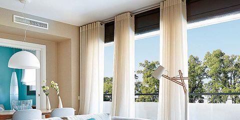 Blue, Interior design, Room, Property, Floor, Textile, Home, Real estate, Wall, Furniture,