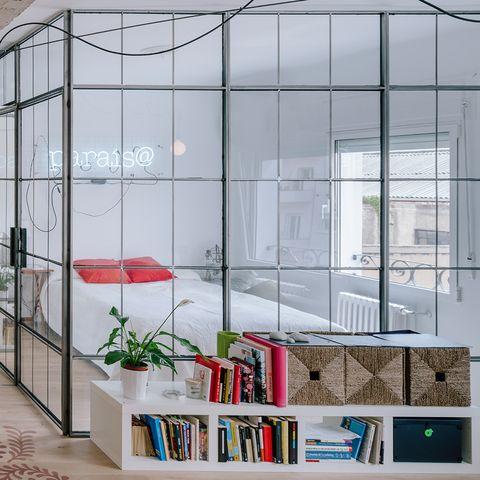 Furniture, Room, Interior design, Iron, Architecture, Glass, Building, Metal, House, Window,