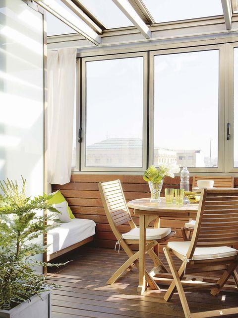 Wood, Interior design, Furniture, Room, Ceiling, Glass, Hardwood, Floor, Table, Real estate,