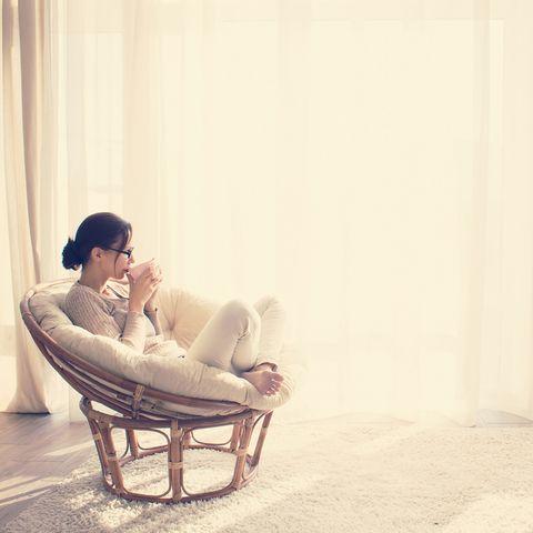 Comfort, Human body, Sitting, Curtain, Wicker, Window treatment,