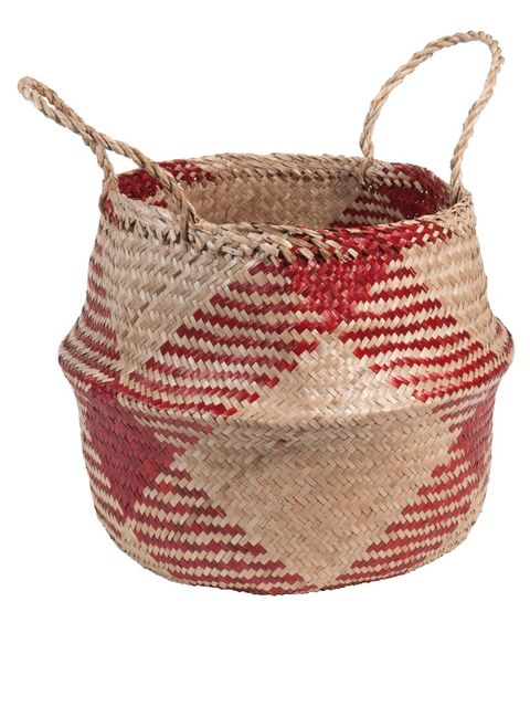 Product, Red, Maroon, Beige, Creative arts, Craft, Coquelicot, Undergarment, Wicker, Basket,