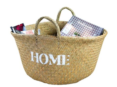 Storage basket, Basket, Hamper, Product, Gift basket, Picnic basket, Home accessories, Wicker, Font, Beige,