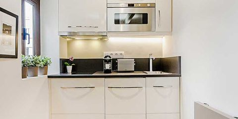 Cocina en piso pequeño