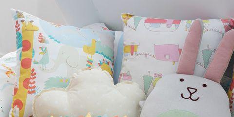 Textile, Pink, Aqua, Turquoise, Teal, Pillow, Cushion, Throw pillow, Plush, Linens,