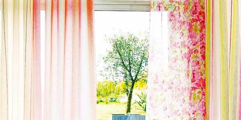 Blue, Room, Green, Interior design, Yellow, Furniture, Textile, Wall, Pink, Living room,