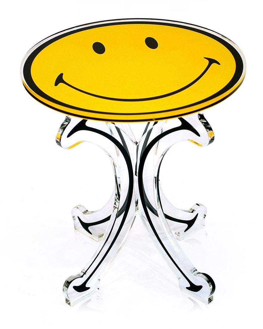 Taburete amarillo Smiley