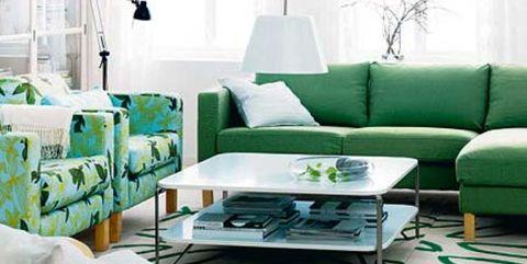 Salón en verde