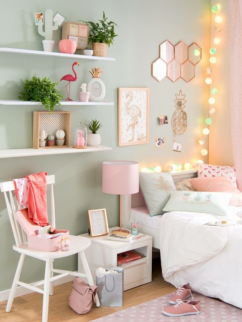 Pink, White, Room, Furniture, Product, Interior design, Living room, Table, Wall, Shelf,