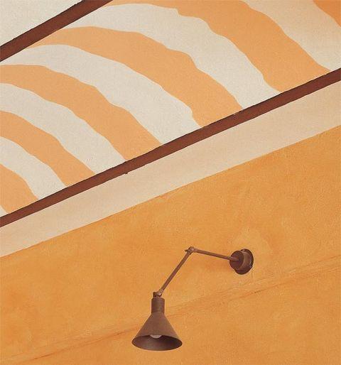 Wall, Orange, Amber, Tan, Beige, Peach, Paint, Plaster,
